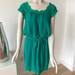 Max Studio Dress with Crocheted Shoulders
